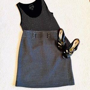 Ann Taylor Pencil Black & White Skirt